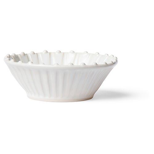 Incanto Stone Striped Cereal Bowl, White/Linen