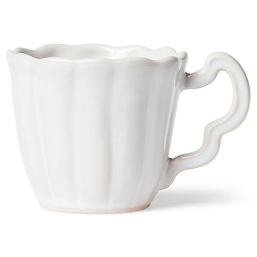 Incanto Stone Scalloped Mug, Linen