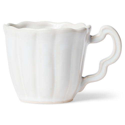 Incanto Stone Scalloped Mug, Linen