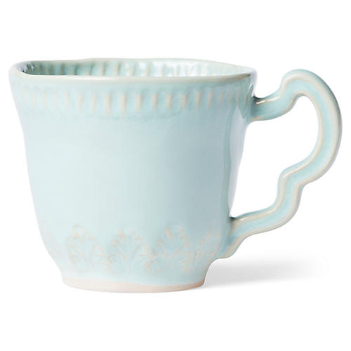 Incanto Stone Leaf Mug, Aqua