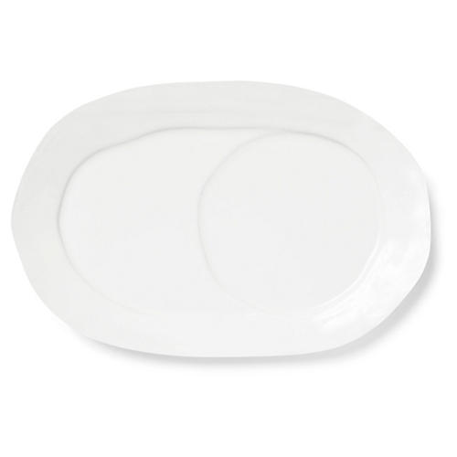 Lastra Oval Serving Tray, Linen