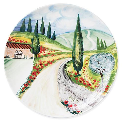 Vineyard Wall Plate, Green/Multi
