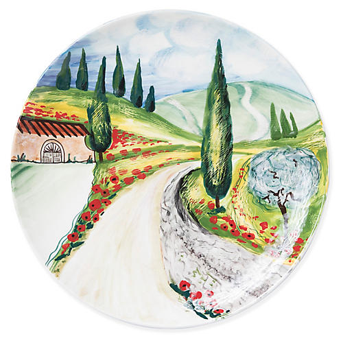 Vineyard Wall Plate, Green/Multi