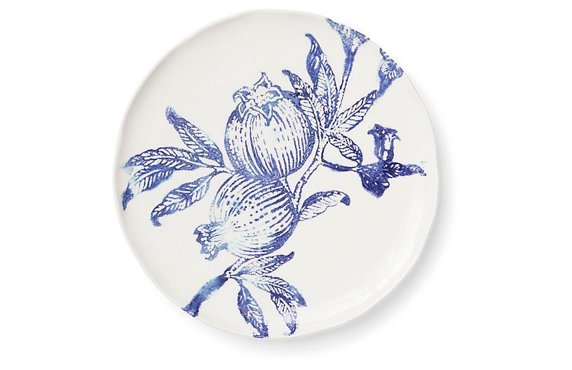 Melagrana Salad Plate, Blue/Ivory