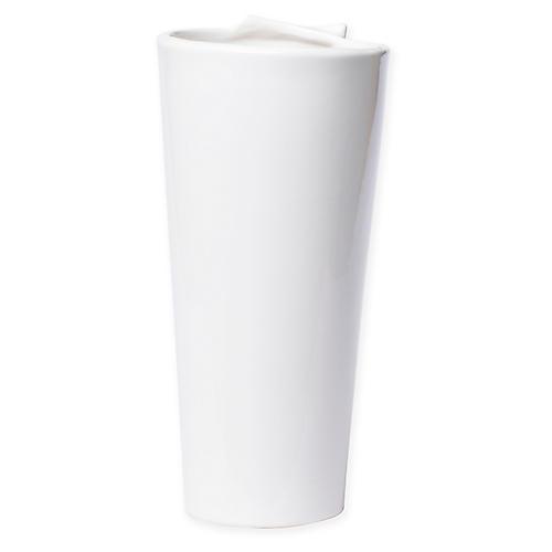 """11"""" Lastra Vase, White"""
