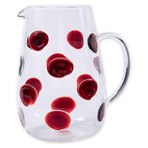 Drop Pitcher, Red