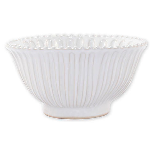 Incanto Stone Small Serving Bowl, White