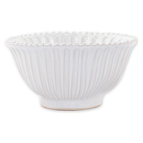 Incanto Stone Small Serving Bowl, White