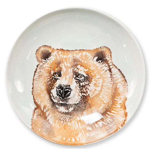 Into the Woods Bear Pasta Bowl, White