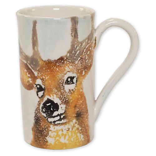 Into the Woods Deer Mug, White