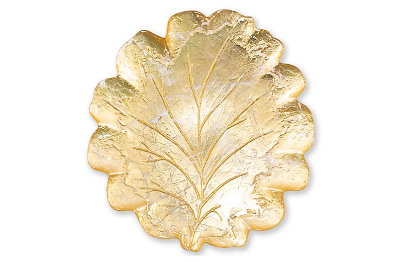 Moon Glass Platter, Gold