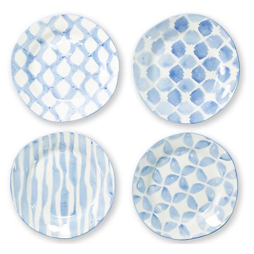 S/4 Modello Salad Plates, Blue