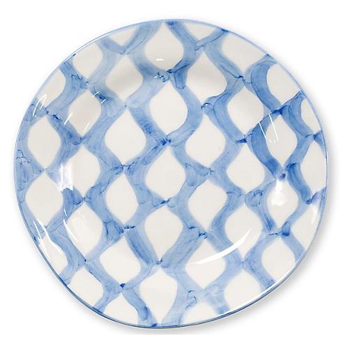 Modello Net Salad Plate, Blue