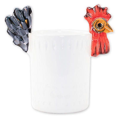 Fortunata Figural Utensil Holder, White