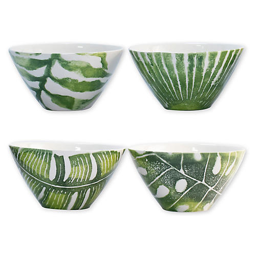 Asst. of 4 Into The Jungle Cereal Bowls, White