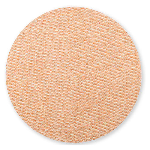 Reversible Round Place Mat, Green/Coral