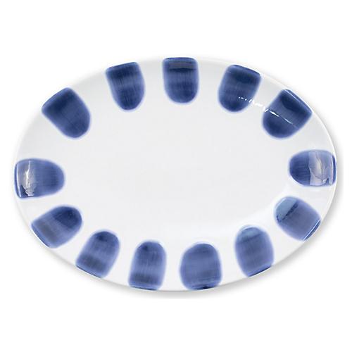 Santorini Oval Platter, Blue/White