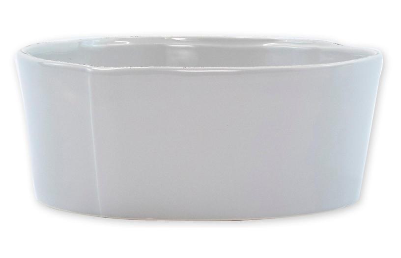 Lastra Serving Bowl, Light Gray