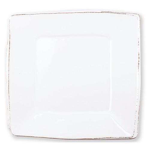 Lastra Fish Square Melamine Platter, White