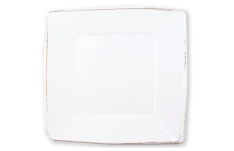 Lastra Square Melamine Platter, White