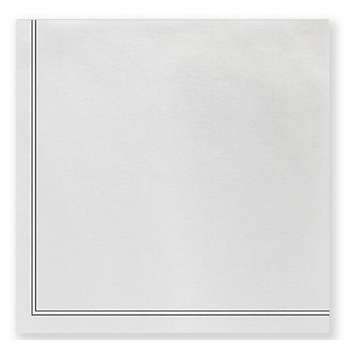 S/50 Papersoft Linea Dinner Napkins, Light Gray