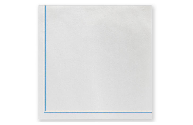 S/20 Papersoft Linea Cocktail Napkins, Light Blue