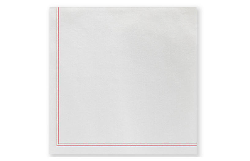 S/20 Papersoft Linea Cocktail Napkins, Red