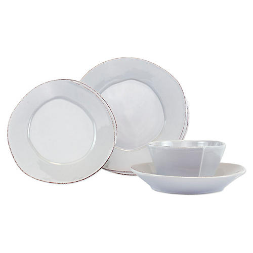 S/4 Lastra Place Setting, Light Gray