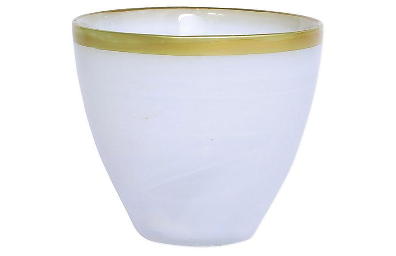 Gold Alabaster Votive, Gold