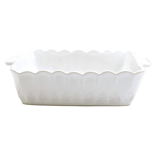 Incanto Stone Lace Square Baker, White