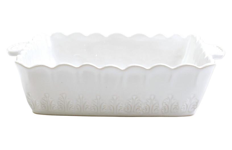 Incanto Stone Lace Square Baker, White