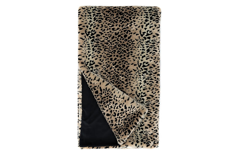 Nora Faux Fur Throw, Cheetah