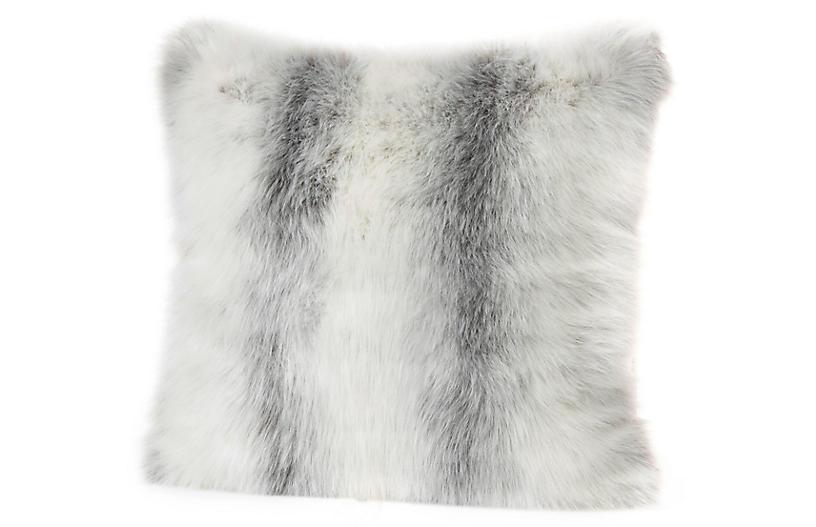 Dana Faux Fur Pillow, Icelandic Fox