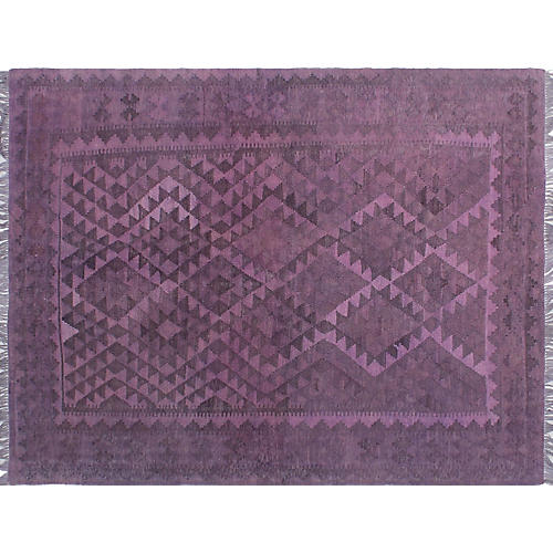 """4'11""""x6'6"""" Coulter Rug, Purple"""