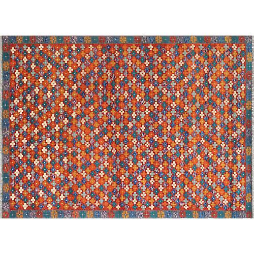 "4'10""x6'8"" Baluchi Joan Rug, Rust/Gray"