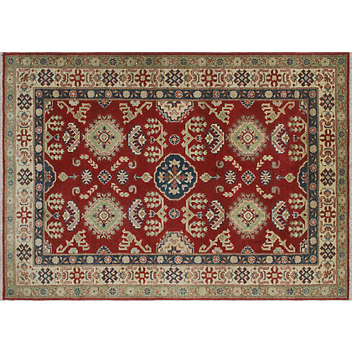 "3'11""x5'9"" Ananda Rug, Red/Blue"