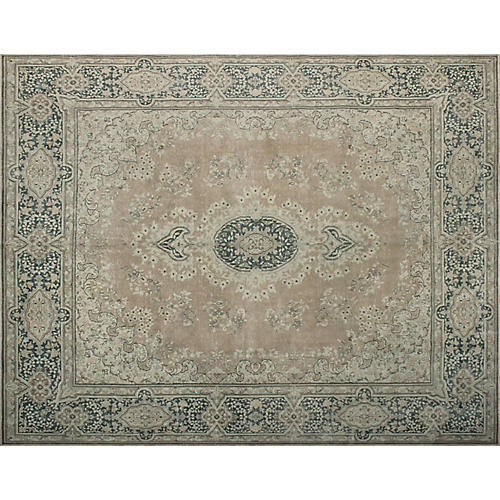 "9'10""x13' Everleigh Rug, Peach/Gray"