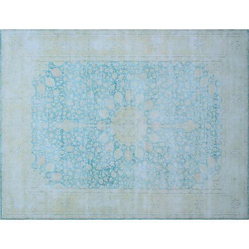 "11'4""x15'11"" Norene Rug, Light Blue/Beige"
