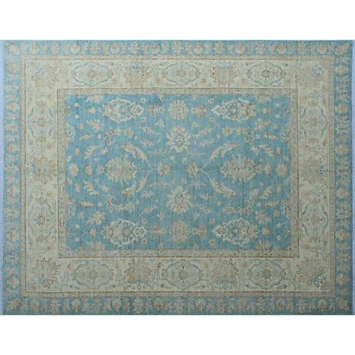 "8'x9'10"" Yousafi Chobi Sanaa Rug, Light Blue/Ivory"