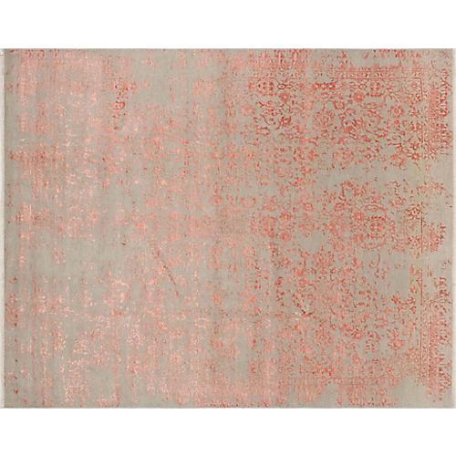 """8'1""""x10'1"""" Erase Mirgul Rug, Gray/Pink"""