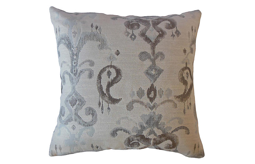 Zadie Pillow, Blue/Brown