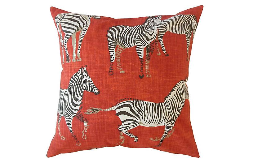 Akia Pillow, Red/Multi