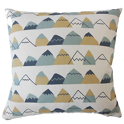 Macy Pillow, Blue/Multi
