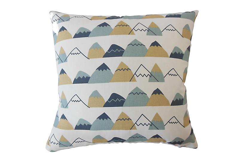 Macy Pillow, Blue/Multi