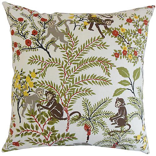 Gallo Jungle 18x18 Pillow, Green/Multi