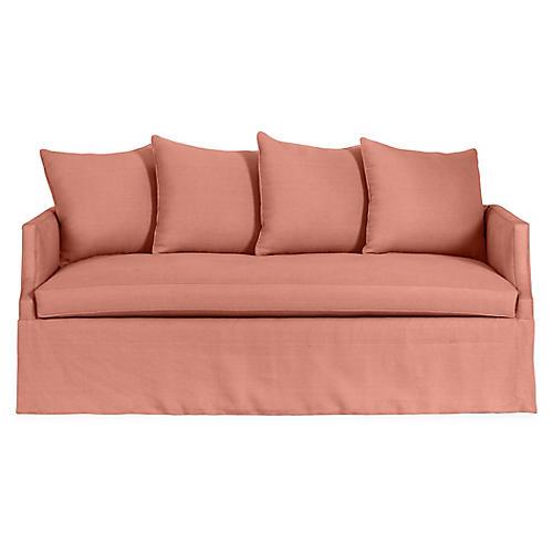 Dumont Premium Trundle Bed, Rose Linen