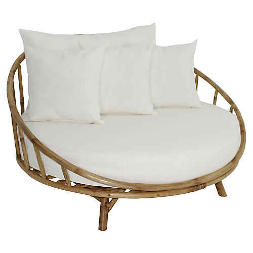 Rattana Daybed, Natural/White
