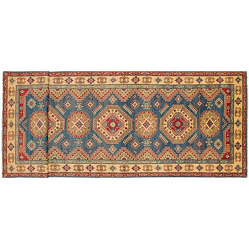 "4'9""x16'4"" Finest Gazni Runner, Blue"