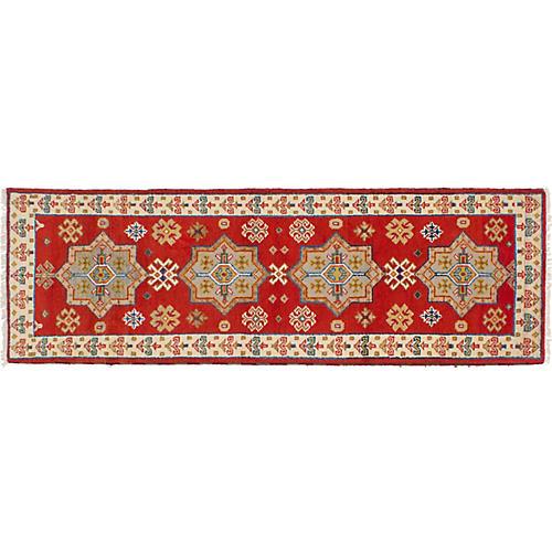 """2'7""""x8'2"""" Royal Kazak Rug, Crimson"""