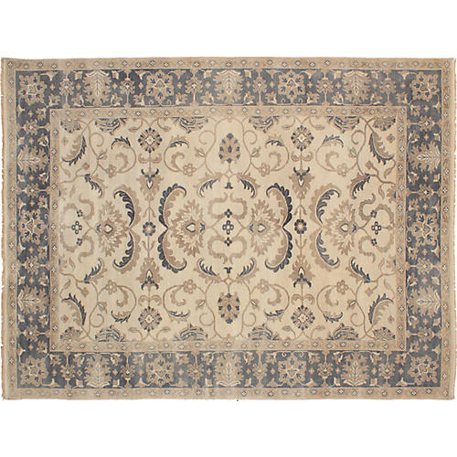 "9'2""x12'1"" Finest Oushak Rug, Cream"